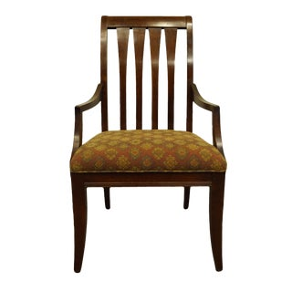 Late 20th Century Vintage Ethan Allen Avenue Collection Mission Style Dining Arm Chair For Sale