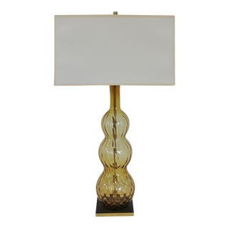 The Perfect Mid-Century Glass Lamp+ Shade by C. Damien Fox