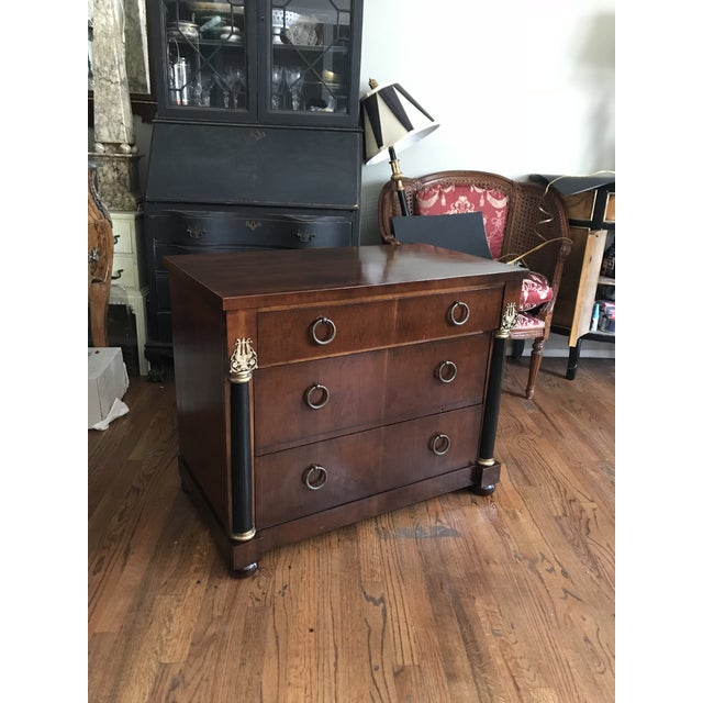 1940s Neoclassical Dark Mahogany Dresser For Sale - Image 10 of 11