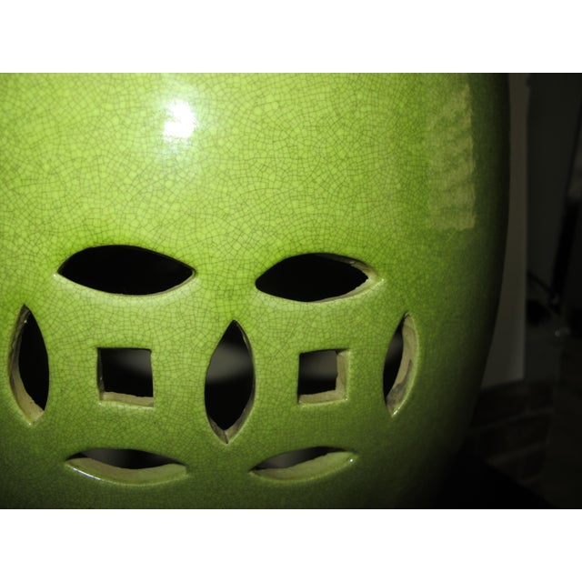 Chinese Lime Green Garden Stool Chairish
