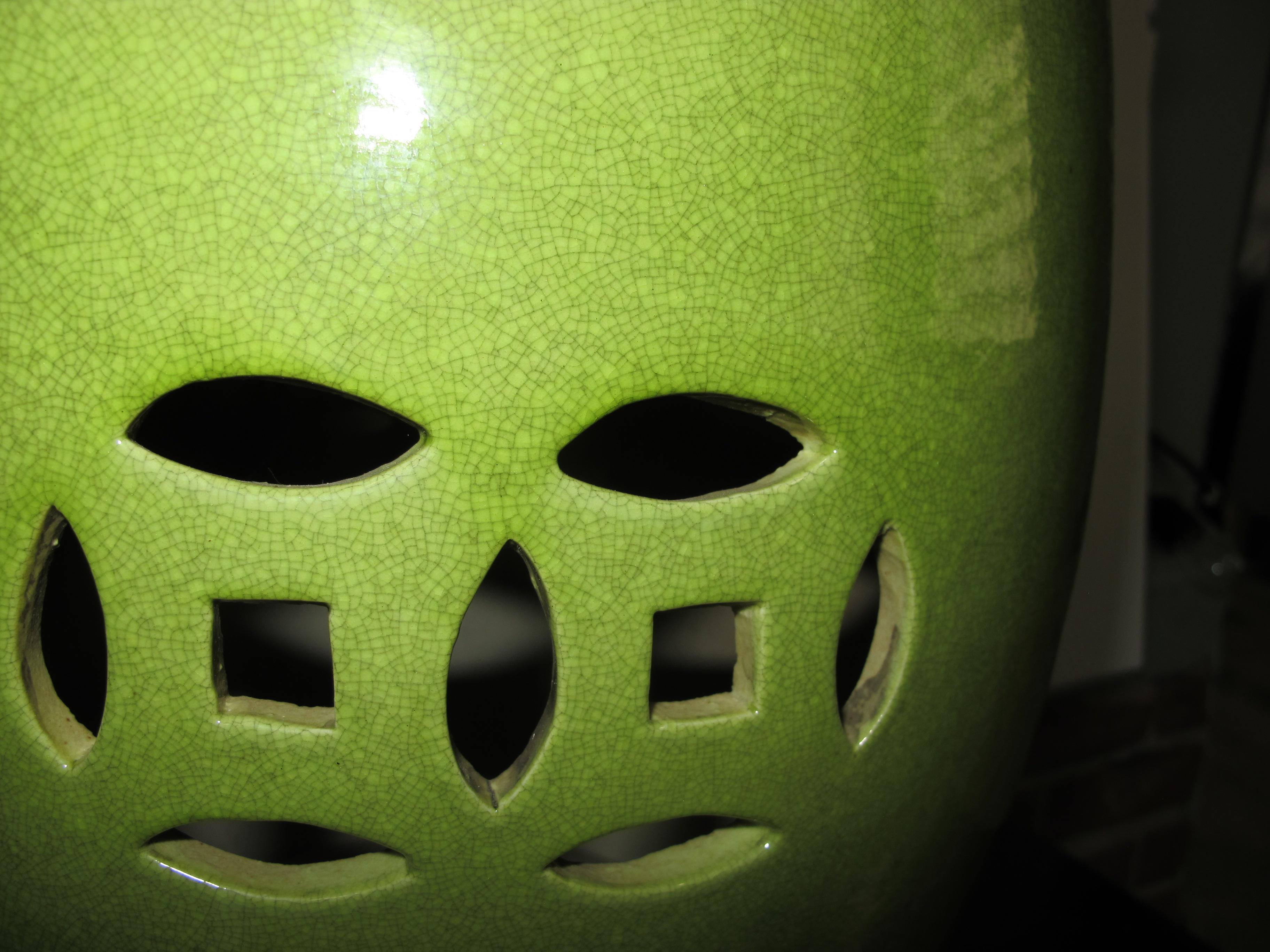 Asian Chinese Lime Green Garden Stool For Sale   Image 3 Of 4