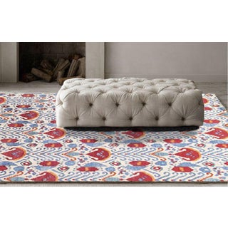 Pasargad Ivory / Multi Color Ikat Design Rug - 8'1'' X 10'1'' Preview