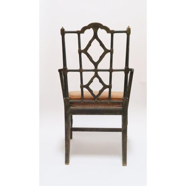 Vintage Chinoiserie Style Wooden Chair - Image 5 of 8
