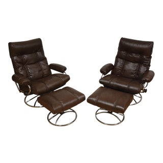 Ekornes Stressless Leather Recliners - a Pair For Sale