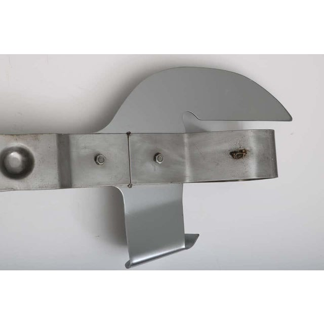 Wall Mount Can Opener Sculpture by Curtis Jere in Stainless Steel For Sale In West Palm - Image 6 of 11