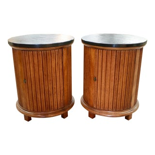 Column Side Tables - A Pair For Sale