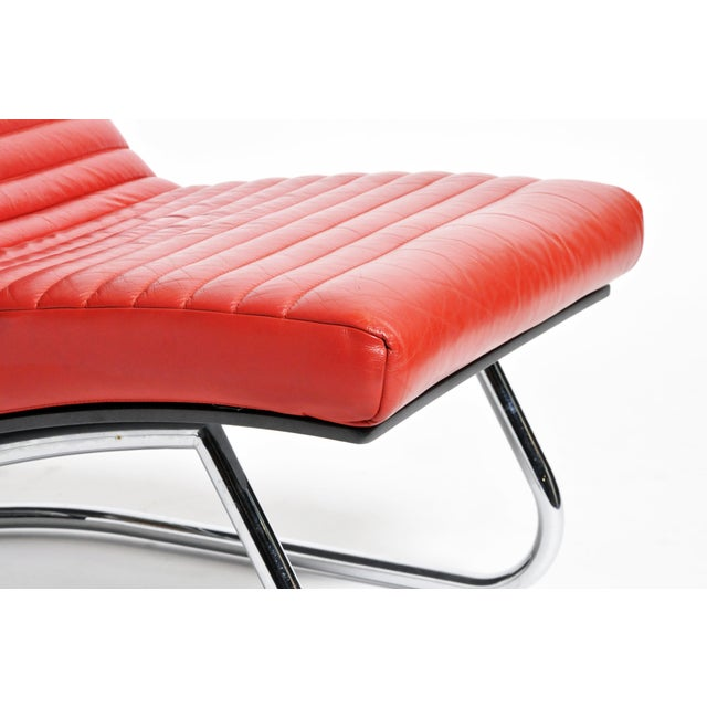 "1970s ""Tulip Red"" Lounge Chairs - a Pair For Sale - Image 11 of 13"