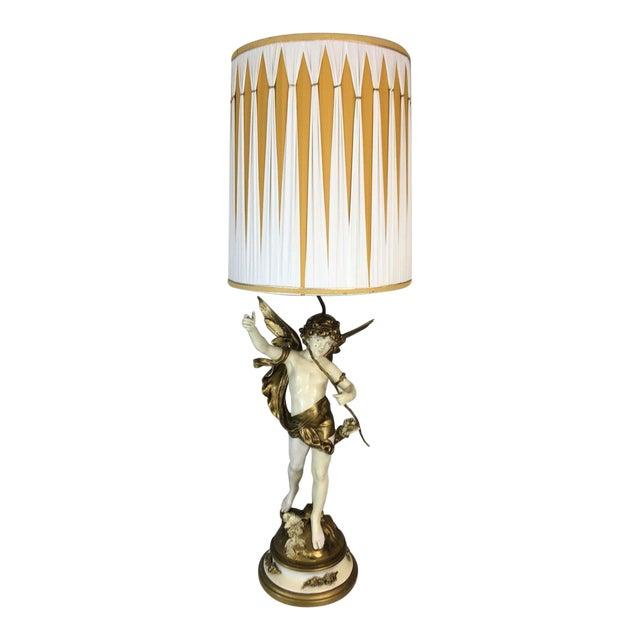Auguste Moreau Art Nouveau Table Lamp - Image 1 of 8