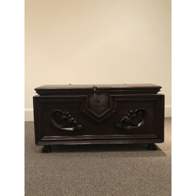 Antique Italian Mahogany Chest For Sale - Image 12 of 13