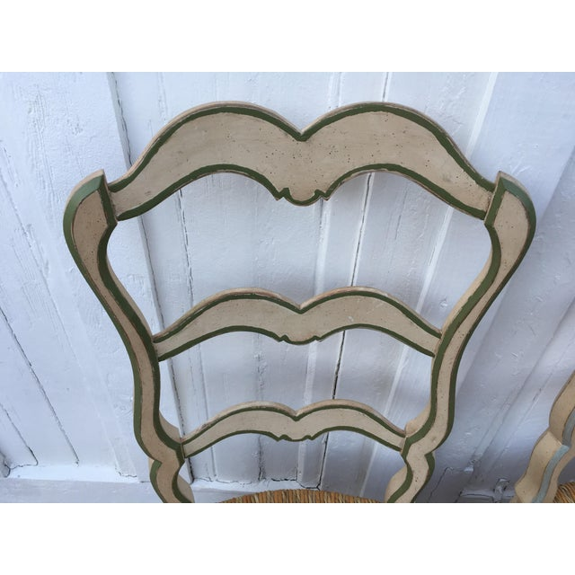 French Ladderback Chairs - A Pair For Sale - Image 5 of 8