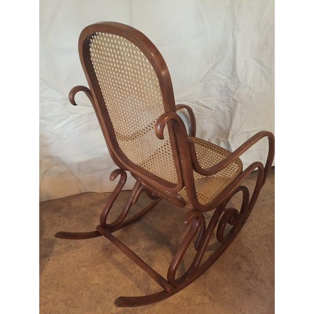 1960s Vintage Thonet Style Bentwood Rocking Chair For Sale - Image 6 of 12