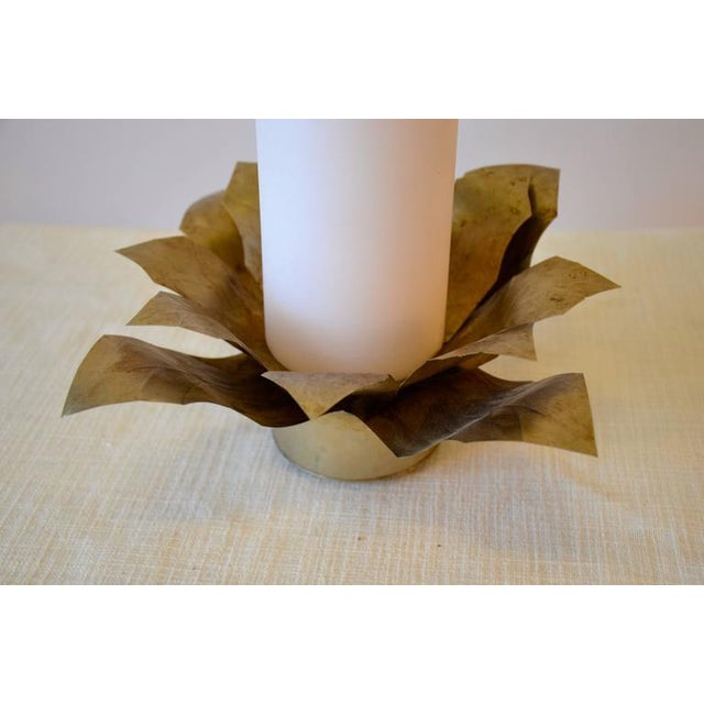 Contemporary Contemporary Gilt Metal Candleholder For Sale - Image 3 of 4