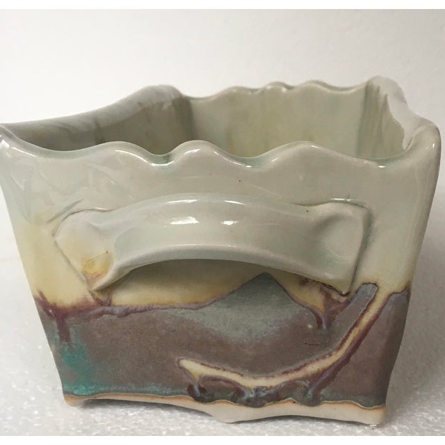 Boho Chic 1970s Organic Modern Ocmulgee Studio Pottery Planter For Sale - Image 3 of 9