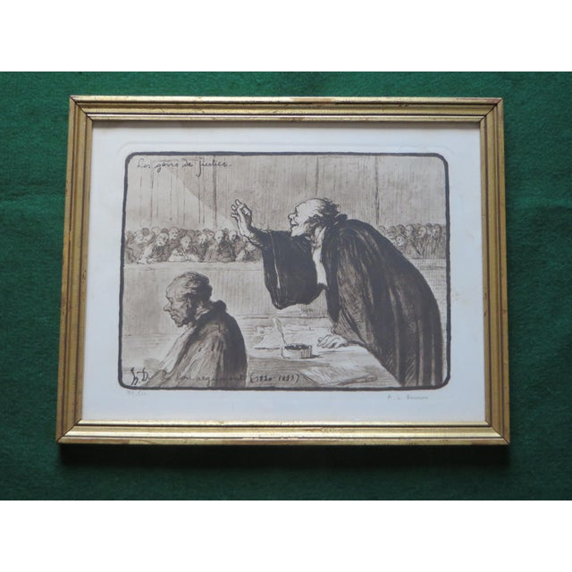 Signed Honore Daumier Caricatures - Set of 3 - Image 3 of 11