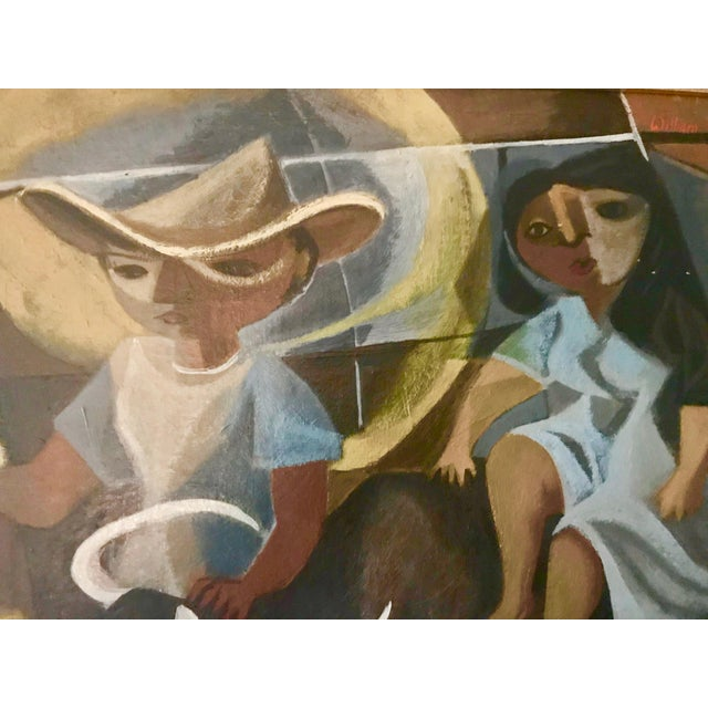 1940s 1948 Vintage William Rose Modern Oil Painting For Sale - Image 5 of 10