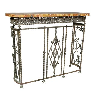 Wrought Iron Console/ Radiator Cover