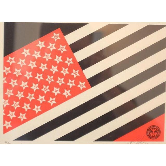 Contemporary Shepard Fairey Obey Flag Screen Print For Sale - Image 3 of 5