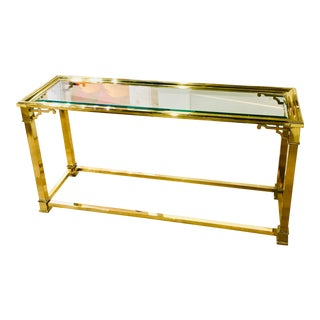 Mastercraft Brass Console Table For Sale