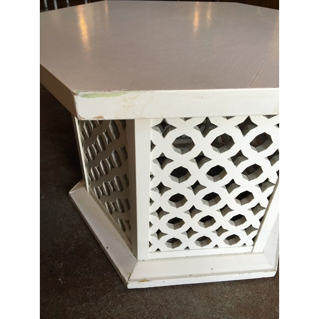 Vintage Hexagon Side Tables - A Pair - Image 6 of 6
