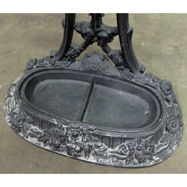 Ornate Cast Iron Hall Tree For Sale - Image 6 of 10