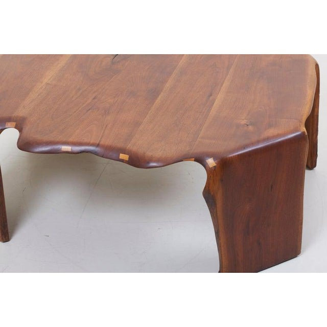 One of a Kind James Monroe Camp Studio Coffee Table in Walnut, Usa, 1975 For Sale - Image 4 of 12
