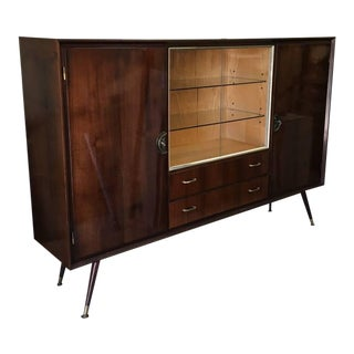 1960s Mid Century Modern Walnut Bar For Sale
