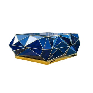 Ploytope Coffee Table in Cobalt by MarGian Studio For Sale