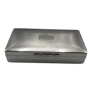 1950s Art Deco Silver Table Box For Sale