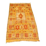 Image of Vintage Moroccan Tribal Orange Rug For Sale