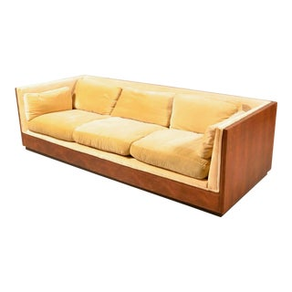 Milo Baughman Rosewood Box Sofa for Thayer Coggin For Sale
