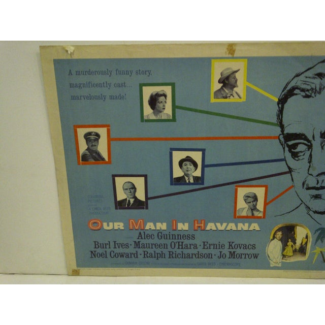 """Mid-Century Modern Vintage Movie Poster """"Our Man in Havana"""" For Sale - Image 3 of 5"""