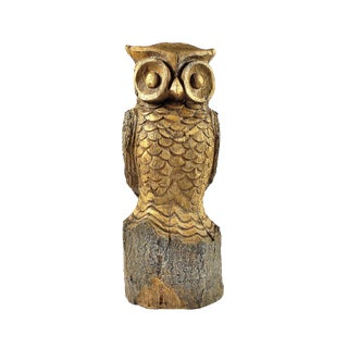 Carved Owl Sculpture For Sale