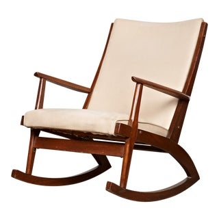 Vintage Mid-Century Rocking Chair For Sale