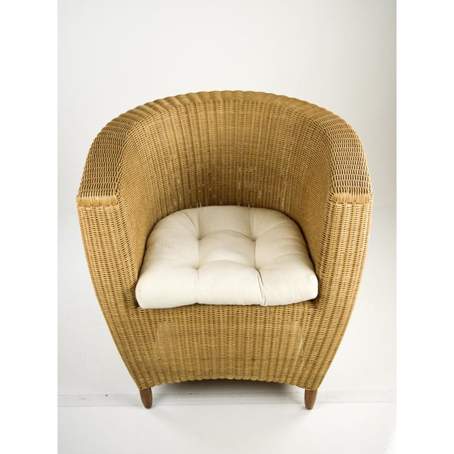 Mid-Century Modern Wicker Tub Chairs - Pair For Sale - Image 7 of 11