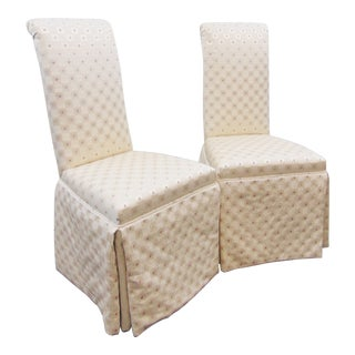 Modern Upholstered Parsons Style Chiars - a Pair For Sale