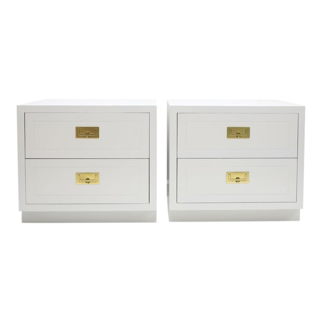 1970s Henredon Campaign Nightstands - a Pair For Sale