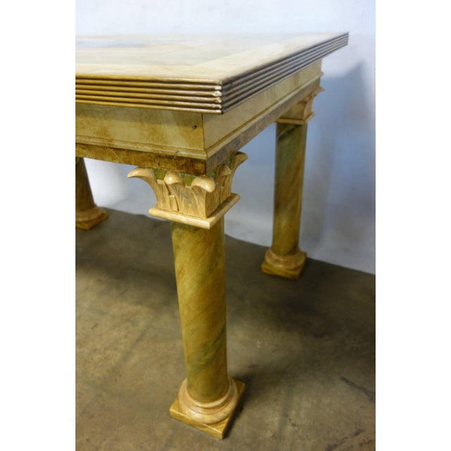 Neoclassical 1980s Vintage John Saladino Neoclassical Library Table For Sale - Image 3 of 8