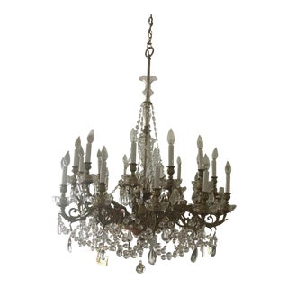 Antique Gold and Crystal Chandelier