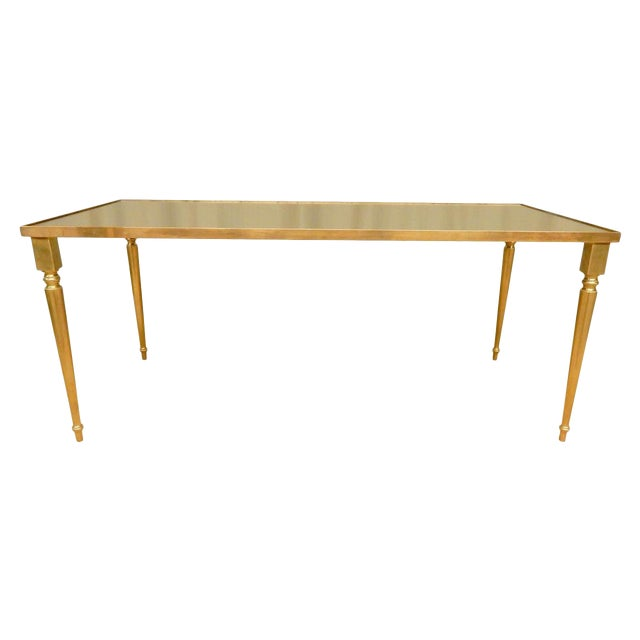 Classical Mirrored Top Mid-Century Modern Coffee Table For Sale