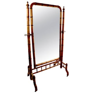 Architectural Cheval Mirror by Horner For Sale
