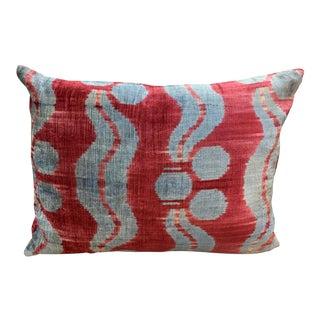 Contemporary Handwoven Cotton Velvet Pillow For Sale