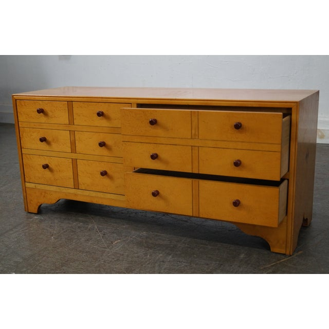 American Artech by Hickory Kaylyn Low Birdseye Maple Chest For Sale - Image 5 of 10