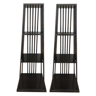 Painted Century Furniture Wood Etagere - Pair