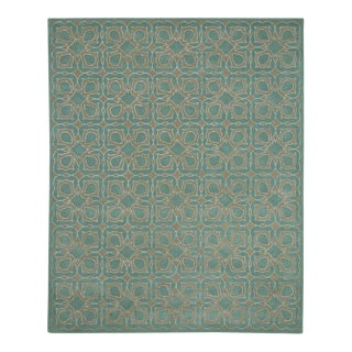 Light Blue Geometric Glam Mortini Rug - 8' x 10'
