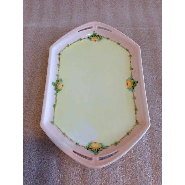 Small Porcelain Tray Hand Painted by M Z Austria For Sale - Image 4 of 8