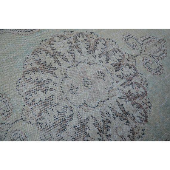 Textile 1960s Vintage Turkish Oushak Rug - 5′8″ × 9′9″ For Sale - Image 7 of 12