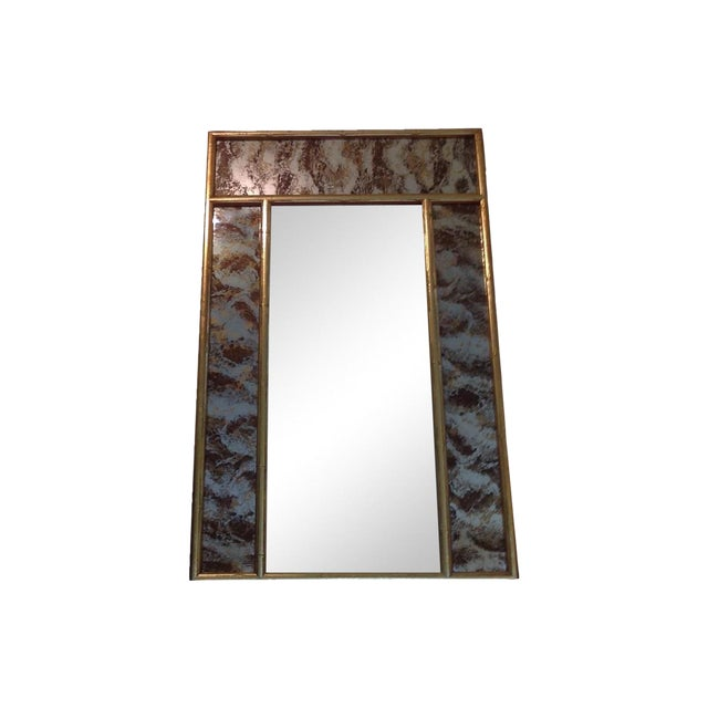 Turner Faux Bamboo Eglomise Mirror - Image 1 of 3