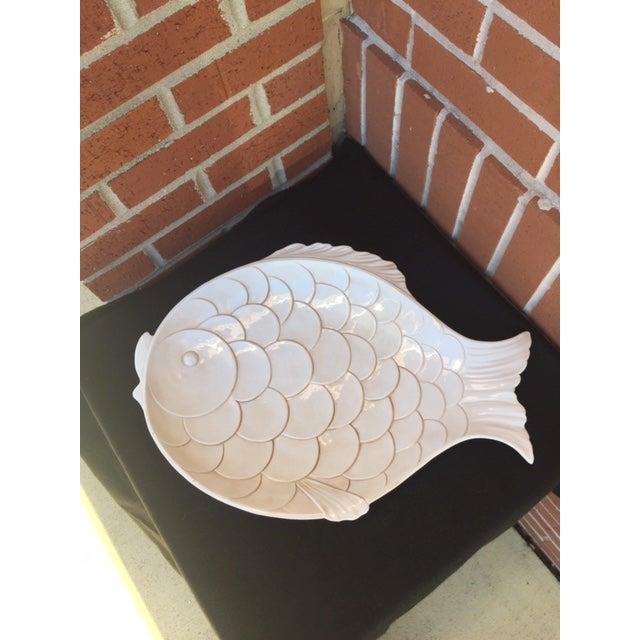 1980s Vintage Fish-Shaped Platter For Sale - Image 5 of 5