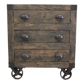 Mango Wood Cabinet on Wheels