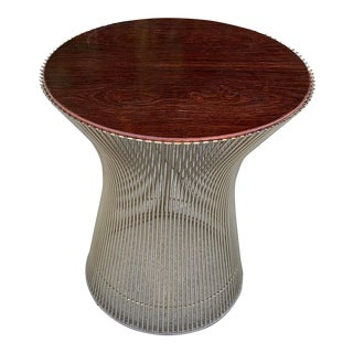 Warren Platner Rosewood Side Table For Sale